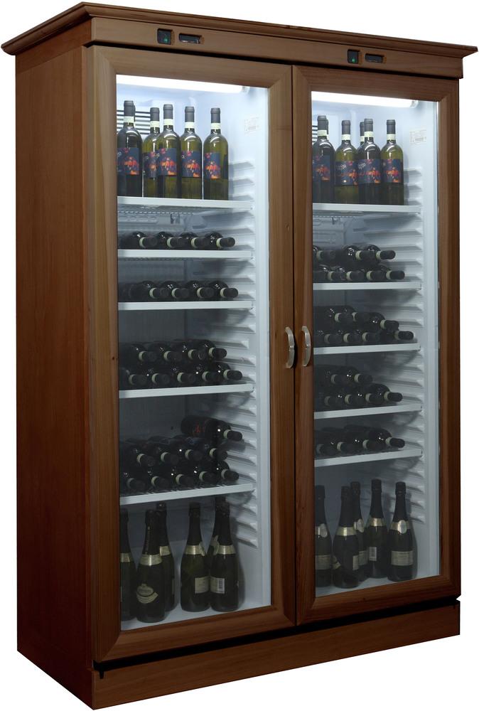 Vetrina vino in legno doppia porta