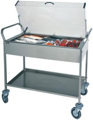 carrello refrigerato inox