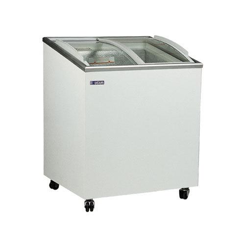congelatore a pozzetto 200 litri vetri a scorrere inclinati curvi
