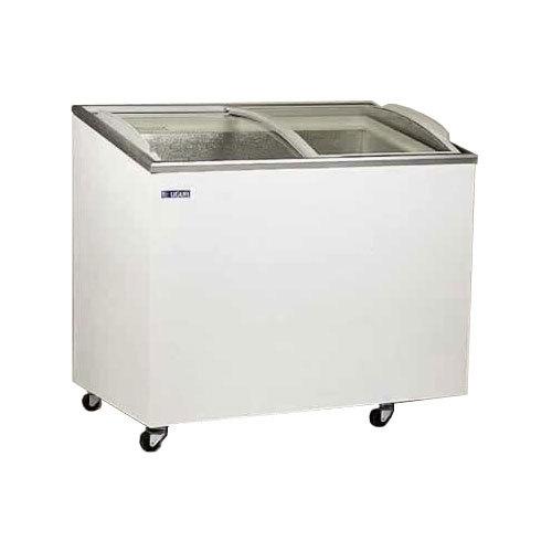 congelatore a pozzetto 300 litri vetri a scorrere inclinati curvi